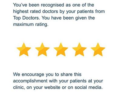 top doctors congratulations